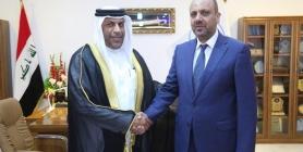 محافظ النجف يستقبل السكرتير الاول للقنصل البحريني في النجف
