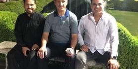 """صورة تعيد للعراقيين عصر الكرة الذهبي """"عدنان درجال برفقة نعيم صدام وحبيب جعفر"""""""