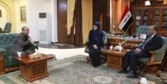 محافظ النجف يستقبل ممثلة بعثة الصليب الاحمر الدولي في المحافظة