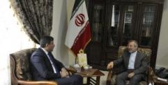 مدير شهداء النجف يزور القنصلية الايرانية في المحافظة