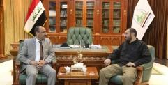 """الياسري يستقبل قائد تشكيلات فرقة الامام علي """"عليه السلام"""" القتالية"""