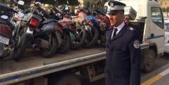مديرية المرور العامة تباشر بحملة لضبط الدراجات النارية المخالفة للضوابط