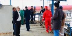معمل غاز النجف الشمالي يواصل عملياته الإنتاجية لتغطية المحافظة بأسطوانات الغاز