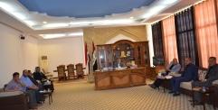 النائب الأول لمحافظ النجف الاشرف يترأس اجتماع المجلس الزراعي في المحافظة