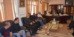 النائب الأول لمحافظ النجف الاشرف المهندس عباس العلياوي يلتقي بإدارة دائرة الأبنية في المحافظة
