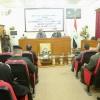 محافظ النجف يلقي محاضرة حول نقل الصلاحيات إلى الحكومات المحلية في كلية العلوم السياسية بجامعة الكوفة