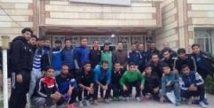 بعد تحريرها اول فريق رياضي يزور النجف من الموصل