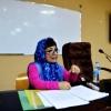 كلية اللغات بجامعة الكوفة تقيم ورشة عمل بعنوان : ( غياب علامات التنقيط في قصيدة الحرية لايلوار ) .