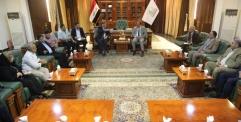 محافظ النجف يستقبل وفدا برئاسة مستشار رئيس الوزراء لشؤون الطاقة