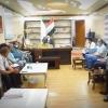 مناقشة سبل تفعيل الاداء الارتقاء بالخدمات في مستشفى السجاد