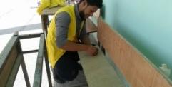 شعبة العمل التطوعي تنفذ حملة صيانة في متوسطة الثناء للبنات