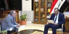 المحافظ يستقبل وفد منظمة الحسين في العراق