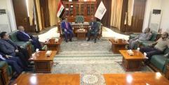 محافظ النجف يستقبل وكيل وزارة الصحة والبيئة في ديوان المحافظة