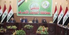 محافظ النجف يحضر جلسة مجلس المحافظةويناقش ملف انقطاع التيار الكهربائي