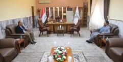 محافظ النجف يزور مكتب امن الحشد الشعبي في النجف الاشرف