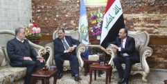 المحافظ يلتقي رئيس مجلس المحافظة في مجلس المحافظة