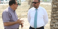 """الياسري يطلق مبادرة لزراعة الأشجار في طريق """"يا حسين"""""""