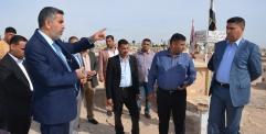 العلياوي سيتم محاسبة كل من تجاوز على الشوارع الرئيسية والفرعية في مقبرة وادي السلام .