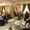 النائب الاول لمحافظ النجف يناقش مع القنصل الايراني واقع السياحة وزيارة العتبات المقدسة في العراق وايران