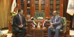 الياسري يستقبل القائم باعمال السفارة الفنزويلية في العراق