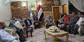 الجبوري يستقبل وفد اصحاب المولدات لمعرفة معاناتهم