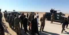 امر اللواء الثاني، فرقة الامام علي(ع)القتالية حشد شعبي يتفقد محور بادية النجف الاشرف والخندق الشقي.