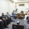 محافظ النجف يلتقي نقيب الرياضيين العراقيين