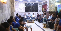 الياسري يزور نادي النجف ويحثهم على تحقيق الفوز على نادي الشرطة