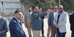 """الكرعاوي """" يوجه البلدية والمرور بفتح الطرق المغلقة قرب مدينة الصدر الطبية."""