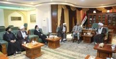 المحافظ يلتقي وفد مكتب السيد الخامنائي في العراق