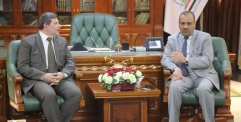 الياسري يستقبل رئيس جامعة جابر بن حيان الطبية