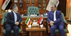 محافظ النجف يستقبل القنصل الجديد لجمهورية ايران الإسلامية