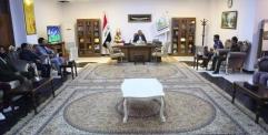 محافظ النجف يستقبل عدد من طلبة الجامعات العراقية
