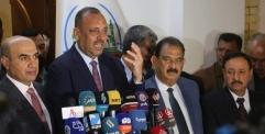 المحافظ ووزير الاعمار والاسكان والبلديات العامة يعقدان مؤتمرا صحفيا
