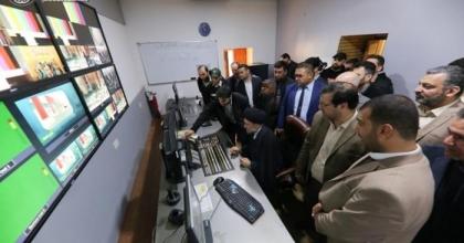رئيس ديوان الوقف الشيعي يفتتح فضائية العتبة العلوية المقدسة