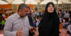 الباحثة السويسرية الدكتورة ألفيرا كربوز : أشعر بأمنياتي تتحقق وأنا في رحاب مرقد الإمام علي (عليه السلام)
