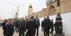 الياسري يتفقد المنطقة المحيطة بمسجد الكوفة المعظم ويوجه بتسليم منطقة فوق نفق مسلم لادارة المسجد
