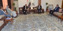 الكرعاوي يستقبل مدير دائرة صيانة مشاريع الري والبزل في وزارة الموارد المائية