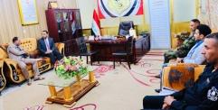 """الكرعاوي """" يبحث مع مدير دائرة المفتش العام لوزارة الداخلية الجانب الامني والاستخباراتي في المحافظة ."""